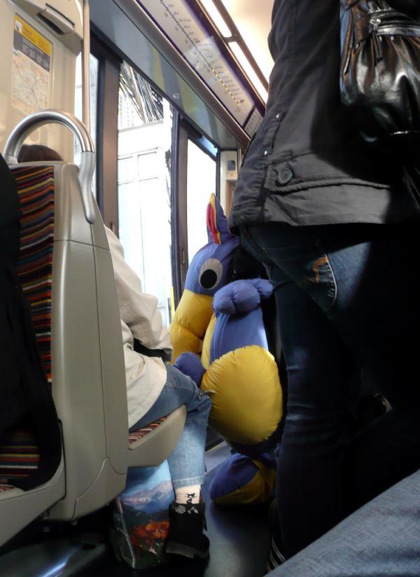 Loulou dans le métro