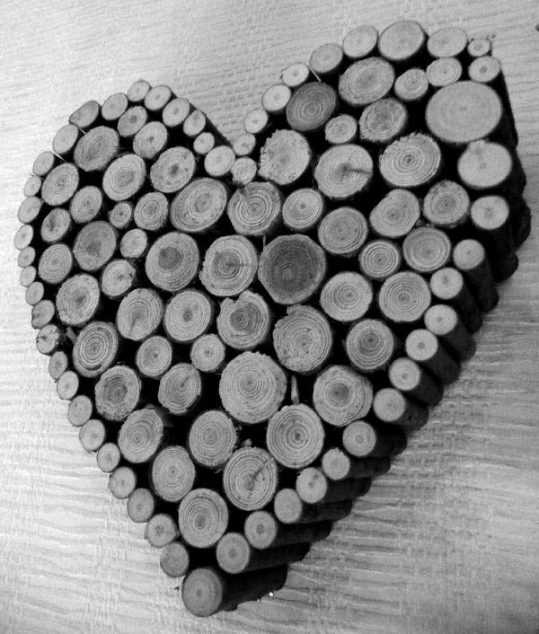 Heart shaped wood